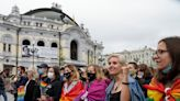 Thousands march in Ukraine for LGBT rights, safety