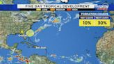Tropics Tracker: Tranquility, for the most part, continues in the Atlantic