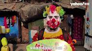 印度疫情失控「小丑」孟買貧民窟「送健康」教孩子戴口罩