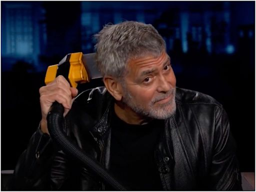 George Clooney said his assistant would Flowbee his hair for him