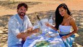 Nicole Scherzinger celebrates birthday on the beach with boyfriend Thom Evans