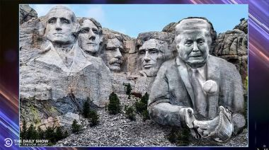 Trevor Noah says we should *actually* put Trump on Mount Rushmore