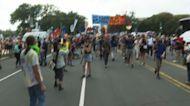 Climate activists protest outside U.S. Capitol