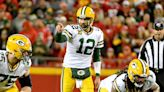 Aaron Rodgers arrives at Green Bay Packers training camp