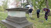 Residents tour Warren's oldest cemetery