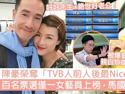 陳豪榮奪「TVB人前人後最Nice藝人」!僅一女藝員上榜,馬國明得第六?   GirlStyle 女生日常