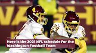 Washington Football Team 2021 NFL schedule