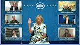 First lady holds virtual reception for guests not at speech