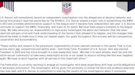 U.S. Soccer to investigate misconduct allegations
