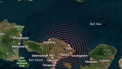 印尼峇里島清晨發生4.8地震 至少2死7傷