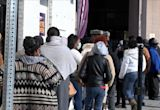 Many waiting for hours in food lines ahead of Thanksgiving