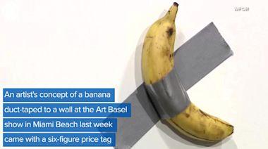 WEB EXTRA: $120K Banana Eaten At Art Basel Installation