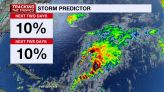 NHC keeps development odds very low on feature over the Atlantic