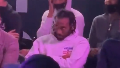 Kawhi Leonard goes viral for reaction at Clippers' groundbreaking ceremony