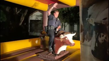 Texas officer rides mechanical bull while responding to noise complaint
