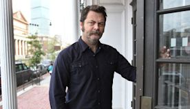 Nick Offerman brings charming obnoxiousness to role - The Boston Globe