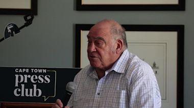 "Former politician Ronnie Kasrils says South African President Ramaphosa ""is doing a good job"""