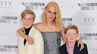 Kristen Stewart Glitters At 'Spencer' Premiere With Actors Who Play Prince William & Prince Harry