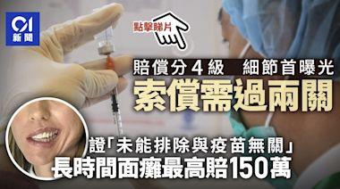 新冠疫苗|保障基金接10宗索償 各項副作用賠償額上限首曝光