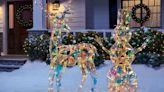 Home Depot Is Selling an Iridescent Reindeer and Snowman for a Sparkling Christmas