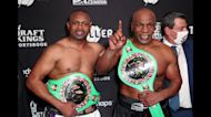 Tyson returns to ring at 54, fights Jones Jr to draw