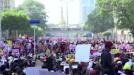 Myanmar stages 'broken down' cars protest
