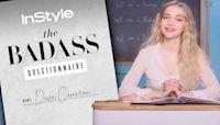 Dove Cameron Pole Dances To Janelle Monáe Tunes | Badass Questionnaire | InStyle
