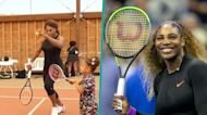 Serena Williams Is Teaching Daughter Olympia To Play Tennis Like A Champ!