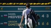 Dimitrov downs top-seeded Medvedev in 3 sets at Indian Wells
