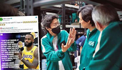 NBA湖人隊「詹皇」不滿《魷魚遊戲》結局 導演黃東赫回嗆:他可以自己拍一個--上報