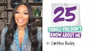 Cynthia Bailey: 25 Things You Don't Know About Me!