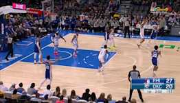 Matisse Thybulle with an assist vs the Oklahoma City Thunder
