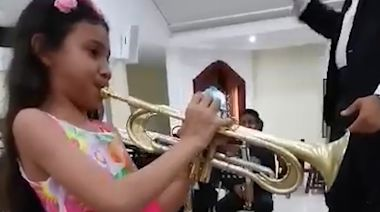 11-Year-Old Prodigy Receives New Trumpet After Fleeing Venezuela