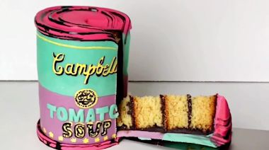 Baker creates stunning pop-art inspired Campbell's Soup CAKE