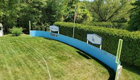 This fan is building a replica of Dodger Stadium in his New England backyard