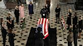 RBG's Trainer, Army Vet Bryant Johnson, Does Push-Ups in Front of Her Casket