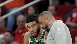 Celtics players react to Ime Udoka's first win vs. Rockets, give their head coach a surprise post-game shower