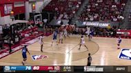 Tyrese Maxey with a 3-pointer vs the Atlanta Hawks