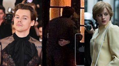 哈利路邊激吻《王冠》黛安娜王妃 「肢體交纏」畫面瘋傳⋯粉崩潰