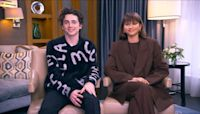 Timothee Chalamet and Zendaya talk about their new film, 'Dune'