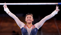 Sunisa Lee wins all-around Olympic gold medal with Simone Biles cheering her on