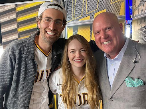 Emma Stone Makes Rare Appearance with Husband Dave McCary at Padres Baseball Game