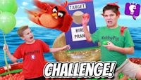LAST TO LEAVE POOL WINS $1,000! Angry Birds Movie 2 PRANK Challenge!