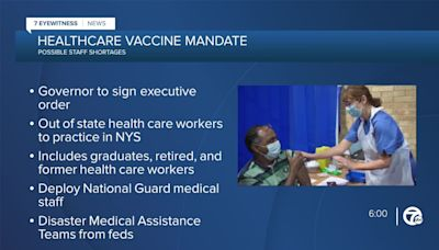 NYS releases plan to address health care staff shortage ahead of Monday vaccination deadline