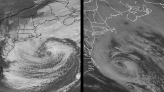 Nor'easter off US coast has similarities to 1991 'Perfect Storm' and may become tropical