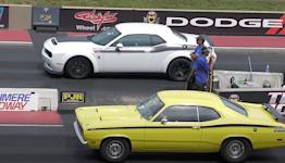 It's An Old School Vs Modern Muscle Car Showdown