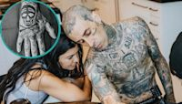 Travis Barker Gets New Tattoo With Girlfriend Kourtney Kardashian Snuggled By His Side