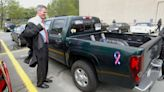 Remember Scott Brown's famous pickup truck? Now, it's a bench.