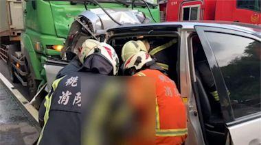 國2大湳段6車連環撞1死6傷 一度回堵5公里