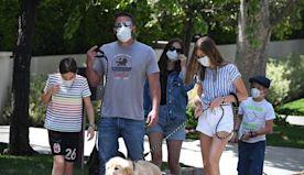 Ben Affleck Introduces His Kids to Ana de Armas, Go for Family Dog Walk